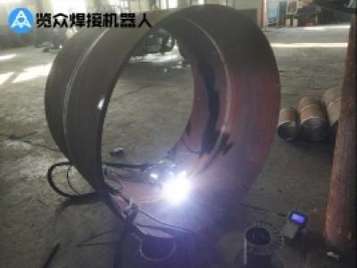 大管径管道氩弧内焊案例